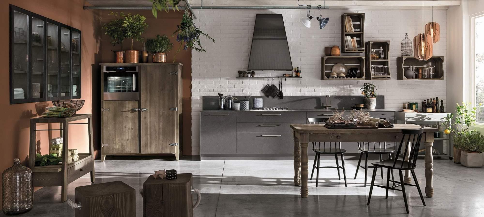 Wood la nuova cucina stosa con il legno al centro ama for Cucine componibili