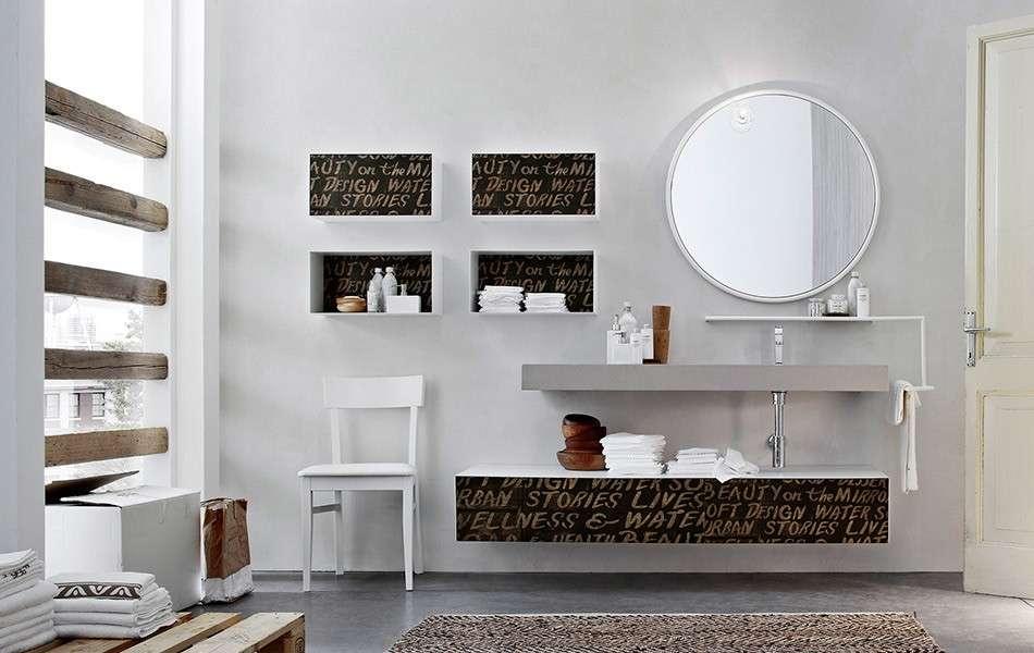 Lo stile industrial nel mobile da bagno ama mobili for Arredo bagno 2017